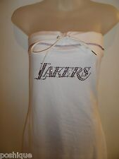 84dffe04b2181 G-III Sports S LA LAKERS Rhinestone Crystal Dress Swim Cover Up Beach Pool  NBA