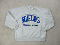 VINTAGE Seattle Seahawks Sweater Adult Large Gray Blue NFL Football Mens 90s *
