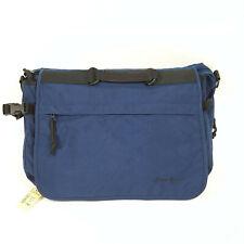 "Eddie Bauer Expandable Navy Blue Mini Briefcase Work Bag 16""x11"" Pack"