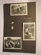 Kämper-Bad im Juli 1932 - Jungen und Mädchen in Badeanzug Badehose / 3x Foto