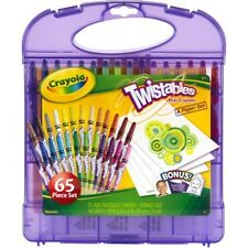 New Crayola Twistables 65-Piece Colored Crayons and Paper Set