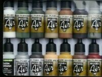 14 VALLEJO MODEL AIR ACRYLIC AIRBRUSH PAINTS COLOURS SUITABLE FOR MODEL RAILWAYS