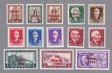 Albanien Mi.Nr. 1-12 und 14 postfrisch mit Fotobefund Brunel VP