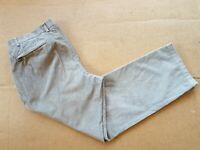 Z231 MENS BLUE HARBOUR DARK BEIGE CHUNKY CORDUROY CORD TROUSERS W36 L30