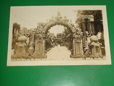 ZU420 Vintage RPPC Entrance to Way of the Cross Grotto West Bend Iowa real photo