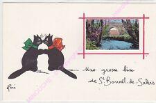 CPSM 15140 SAINT BONNET DE SALERS Une grosse bise  Illustrateur RENE LE CHAT n2