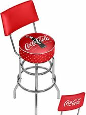Coca-Cola Stool With Back, 100th Anniversary Of The Coca-Cola Bottle