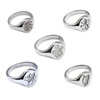 NEW Engraved Signet Rings Ladies Child's 925 Solid Sterling Silver 11x9mm Oval