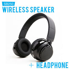 SoundBot SB250 Foldable Stereo Bluetooth Wired & Wireless Speaker Headset Black