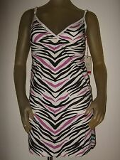 Cute Nwt Juniors Small Billabong Knit Sundress Zebra Stripe Sleeveless Dress Sun
