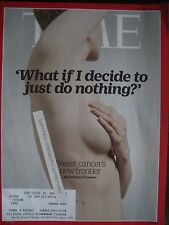 TIME MAGAZINE OCTOBER 12 2015 WHAT IF I DECIDE TO JUST DO NOTHING BREAST CANCER