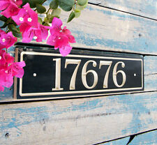 Horizontal House Number Plaque
