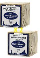 Marius Fabre - SAVON DE MARSEILLE l'huile d'olive, 200 Gr - Lot de 2 Cubes 200g