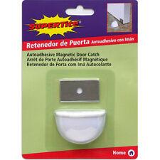 Tope retenedor de puerta adhesivo con Iman color blanco