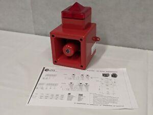E2S AL105N High Output Sounder Xenon Beacon Red Lens - Fire Alert Alarm