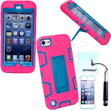 Stand Hybrid Shockproof Case Cover For Apple iPod Touch 5th & 6th Generation