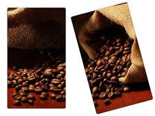 Herdabdeckplatte Schneidebrett Spritzschutz 2er Set HA6552955 Kaffee Bohnen
