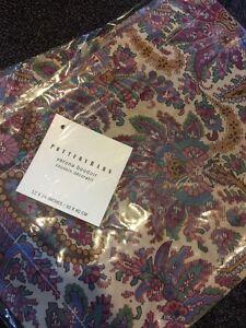 "Pottery Barn Verona Boudoir 12 X 16"" Small Decorative Pillow Cover New Silky"