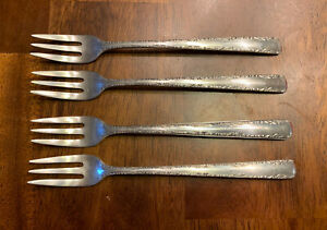 McKinley by Fessenden Sterling Silver Lettuce Fork Gold Washed 7 34