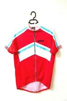 Red Classic UNO  Short Sleeve Full Zip Road Cycling Bicycle Jersey Size Large