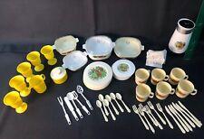 Chilton Manitowoc, Wisconsin Vtg Lot Of Childrens Plastic China Set 60 Pieces
