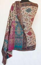 Wool Shawl Genuine Hand-Cut Kani Paisley Jamavar Jamawar Pashmina Chinar Floral