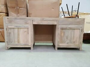 Boston Indian Solid Wood Console Hall Table And Desk Natural (MADE TO ORDER)