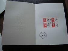 FRANCE -document 1er jour 29/12/1990 (albertville ski de vitesse) (cy48)french(Z