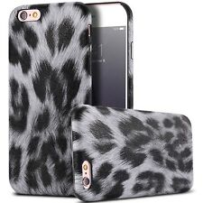 Slim leather acrylic leopard pattern back case for Apple Iphone 6 6s &Plus cover