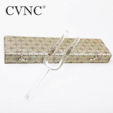 CVNC 528 HZ Diameter 16 mm Clear C note Root Chakra Quartz Crystal Tuning Fork