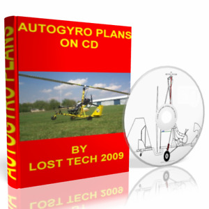 BUILD YOUR OWN ULTRALIGHT GYROCOPTER 7 DIFFERENT AUTOGYRO PLANS ON CD