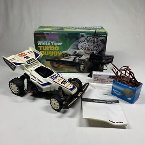 Vintage Radio Shack Buggy RC White Tiger Turbo 15 Rare Complete In Box Japan