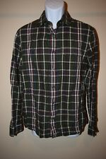 A|X ARMANI EXCHANGE MENS MEDIUM MULTICOLOR CHECKERED SNAP BUTTON SHIRT EXCELLENT