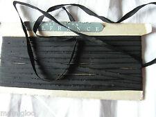 MERCERIE ruban galon fin  attache noir 1mx0.5 cm☺rubbon