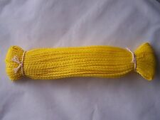 20m 2.6mm strong waterproof braided polypropylene yellow cord / rope / string **