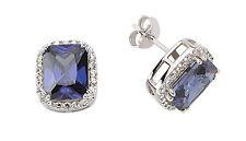 Sapphire Earrings Solid Silver Stud Sterling Silver Studs