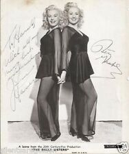 DOLLY SISTERS BETTY GRABLE JUNE HAVER autograph 8x10 photo GOLDENAGE ESSENTIALS