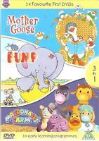 3 x FAVOURITE FIRST DVDS - MOTHER GOOSE * BUMP * MACDONALDS FARM 3 DVD SET kids