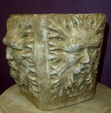 Green Man Vase Sculpture Home Garden Urn Art Statue