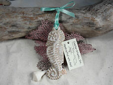 SEAHORSE Made with Sand Tropical Beach Ornament