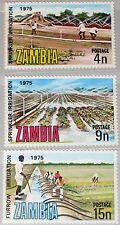 ZAMBIA SAMBIA 1975 159-61 153-55 Intl. Commission Irrigation Drainage Farmer MNH
