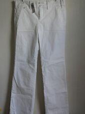 STANDART 1 CHINO BASIC WIDE LEG COTTON STRETCH PANTS, White, Size 6, MSRP $88.00
