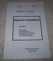 Game Show Pinball Machine Mini Handbook Bally Original 1990 Service Information