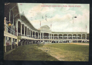 CINCINNATI OHIO CINCINNATI REDS BASEBALL STADIUM BALL PARK POSTCARD COPY