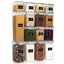 New listing Vtopmart Airtight Food Storage Containers, 15 pcs, includes 24 labels, Bpa Free