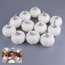 12pcs Artificial White Pumpkin Foam Pumpkins Halloween Party Decoration Garden