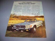 VINTAGE..1976 MERCEDES-BENZ 450SL  ..1-PAGE ORIGINAL SALES AD...RARE! (550T)