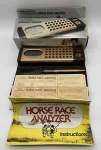 Vintage Mattel Electronics Thoroughbred Horse Race Analyzer Complete! Working!