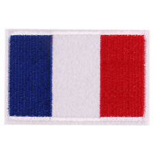 1pcs France Flag Embroidered Iron ON Patch cloth Applique Badge