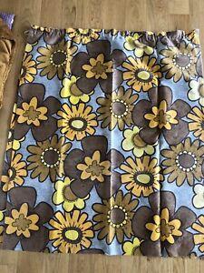 Original Vintage 60s Curtains Bold Flower Print